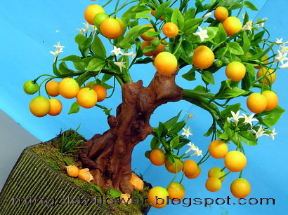 tangerine tree flowers Amazing handcrafted from Thai ArtistOdyssey Penelopes Test