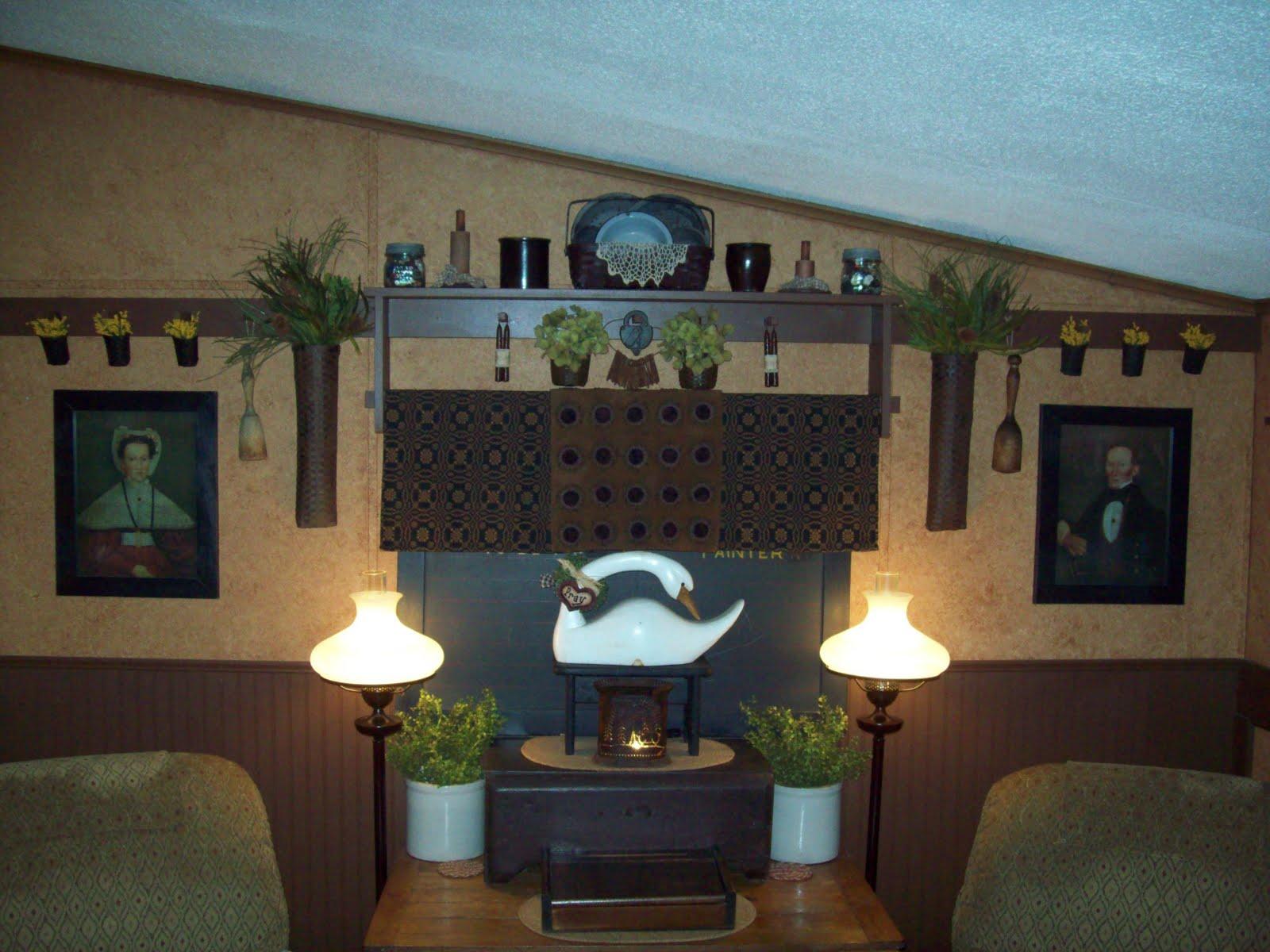 Primitive Living Room A Primitive Homestead Christmas Living Room