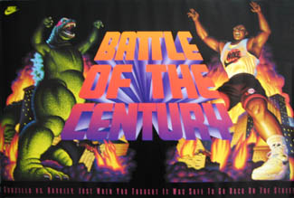Aside From A Great Playing Career Barkleys Poster Is Pretty Impressive As Well The Battle Of Century Nike Not Your Normal Sports