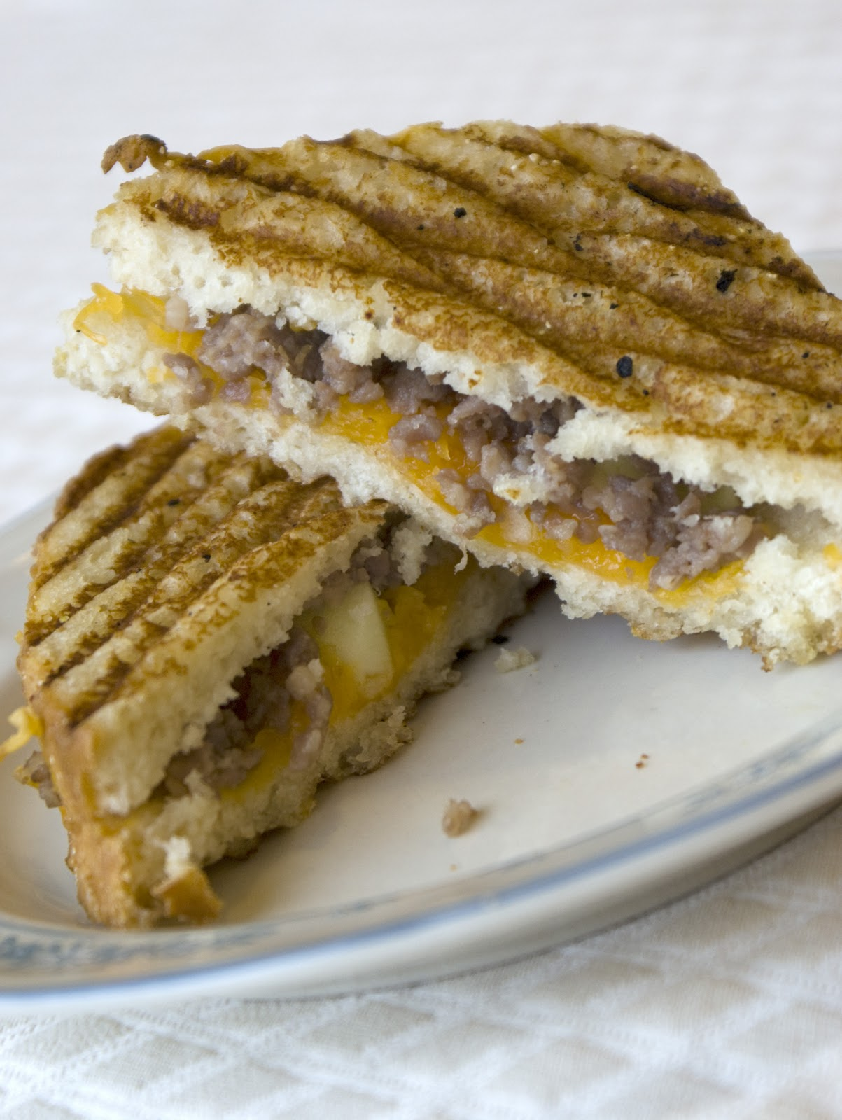 sausage breakfast panini