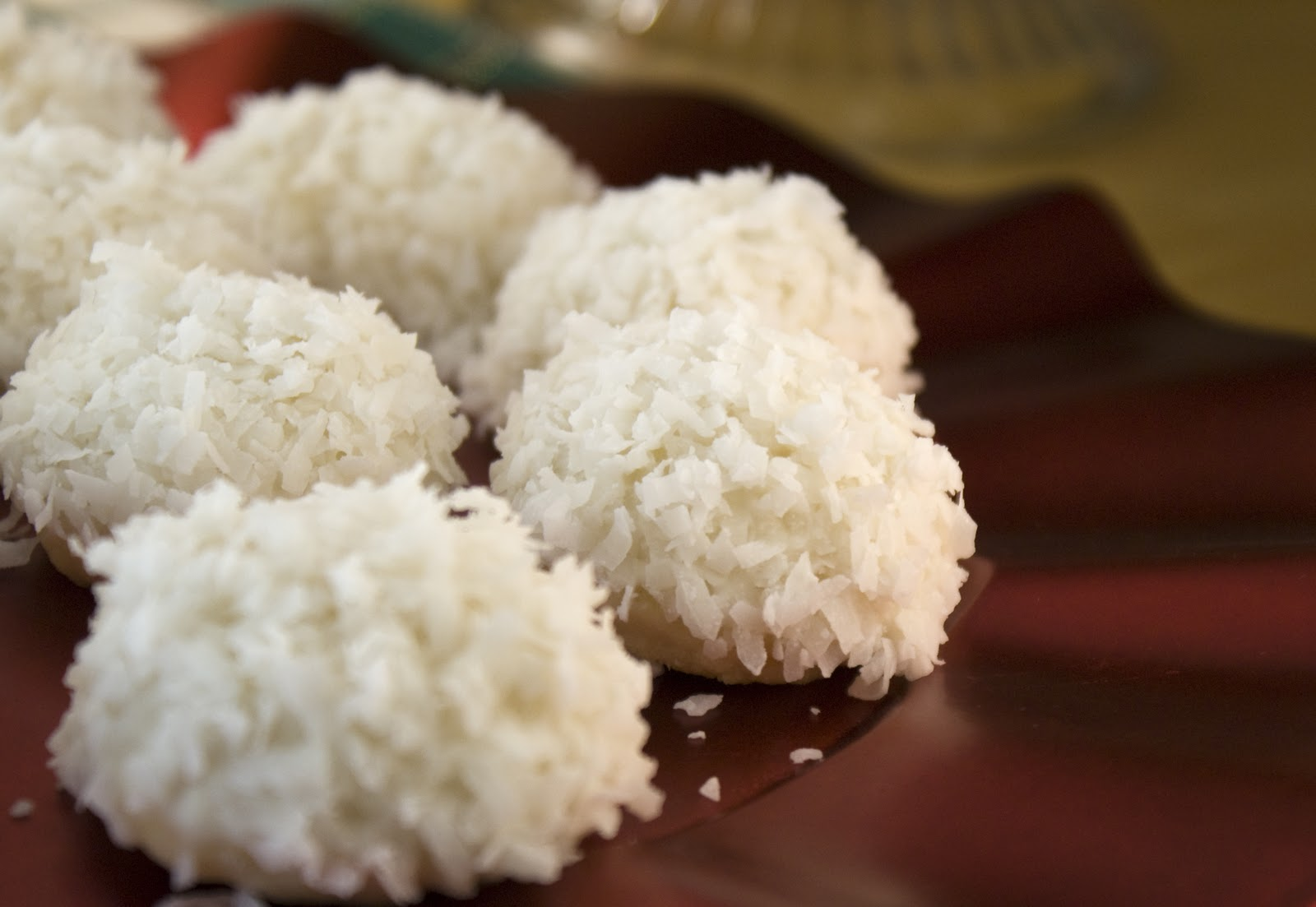 Lime Glazed Coconut Snowballs ~ Heat Oven to 350