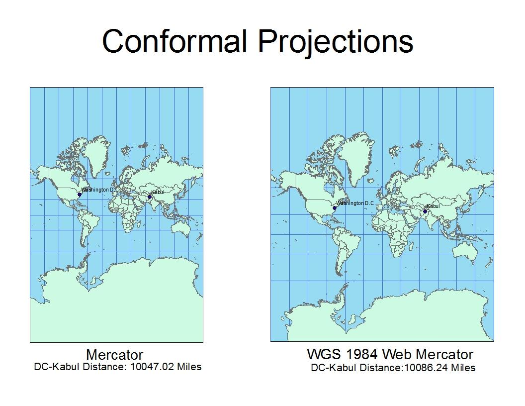 conformal map projection Map projections flattening the earth projections like this are called conformal projections under the hood if you have a map projection that preserves one.
