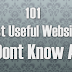 101 Most Useful Websites You Dont Know About