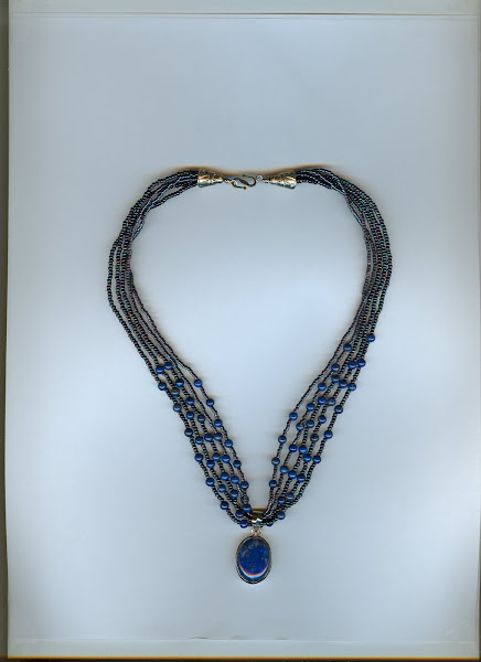 Lapis necklace, sterling silver