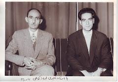 استاد امیری فیروز کوهی،  سمت چپ تصویر، در کنار  استاد محمد قهرمان