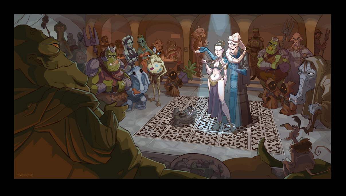 Indiana Jones And the Great Illustrator | The Swedish Bed Jabba The Hutt And Oola