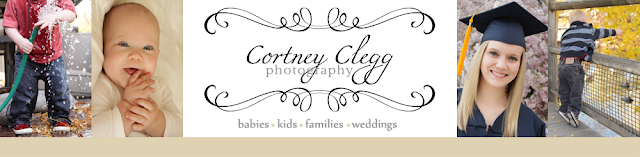 Cortney Clegg Photography Blog Design