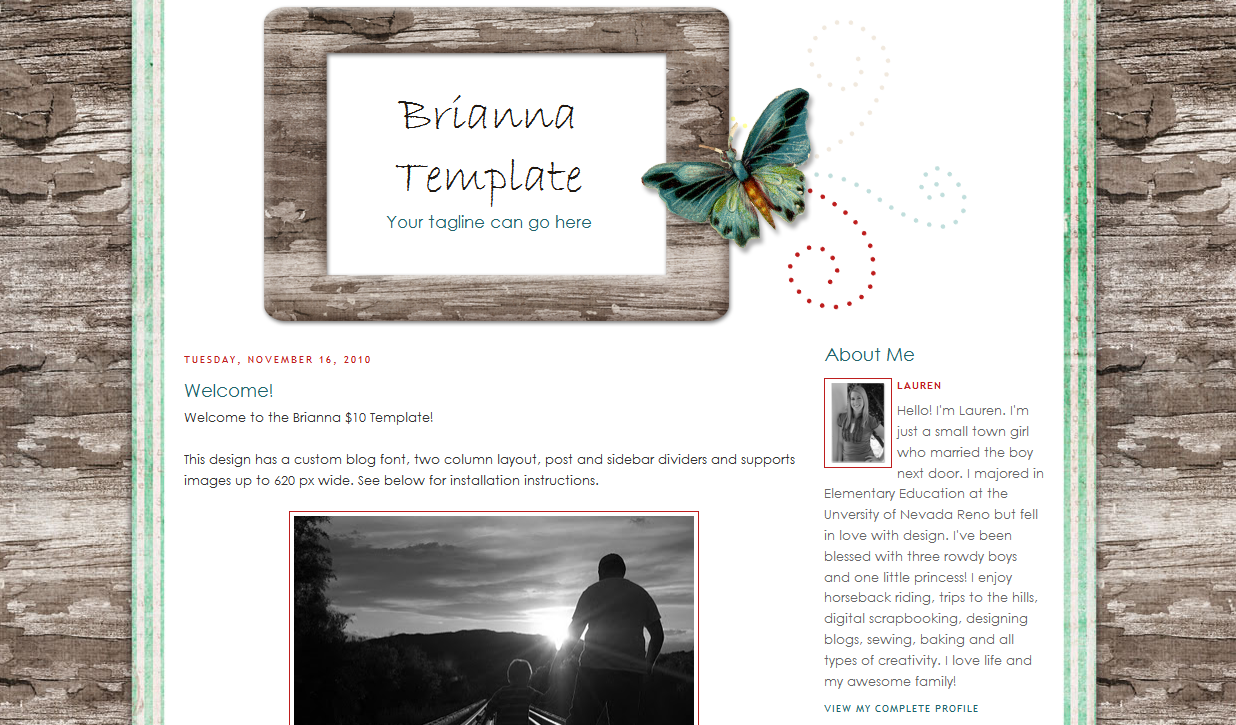Brianna Blog Template