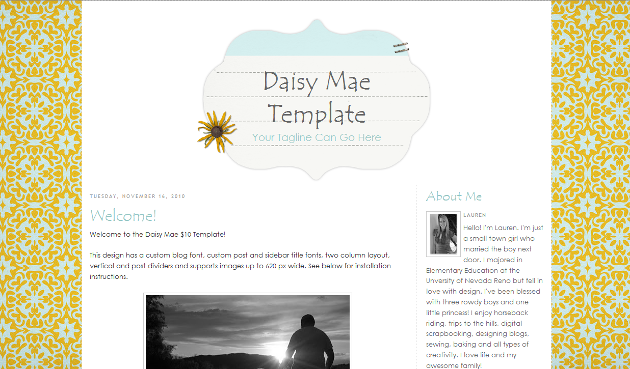 Daisy Mae Blog Template
