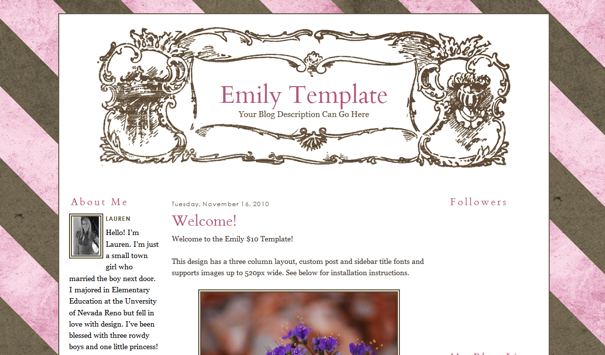Emily Blog Template