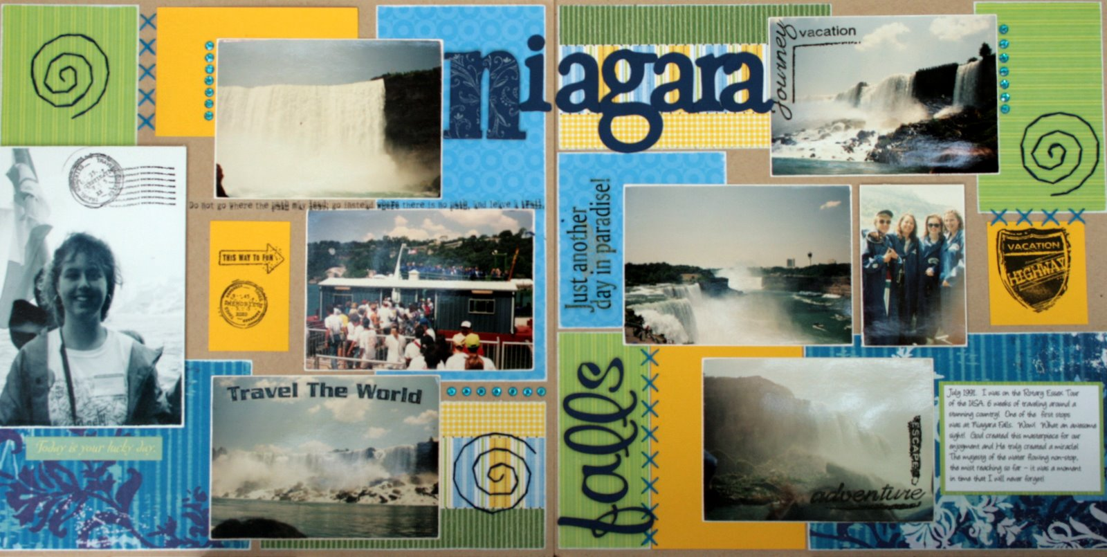 Scrapbook ideas niagara falls - In 1991 I Had The Privilege Of Being An Exchange Student To The Usa For A Year I Still Maintain That It Was The Most Wonderful Year Of My Life I Made