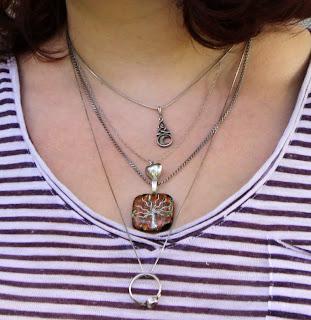 silver necklaces, Jenn Feldman Glass pendant