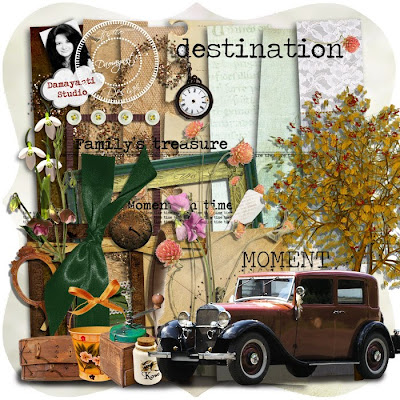 "Free scrapbook kit ""Destination"" from Damayanti Studio"
