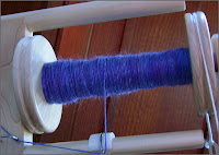 Merino-silk single, first bobbin