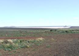 a salt lake in outback SA