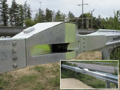Radares camuflados en el quitamiedos