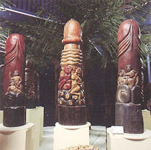 Balinese Hindu Shrines--wood phalluses
