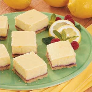 Lemon Cheesecake Squares Recipe — Dishmaps