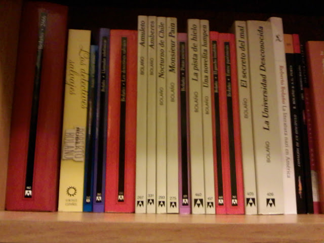 Roberto Bolaño book porn, for your pleasure