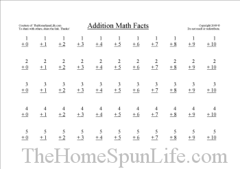 Printable homework pages 1st grade