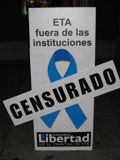 Contra la colaboración PSOE-ETA