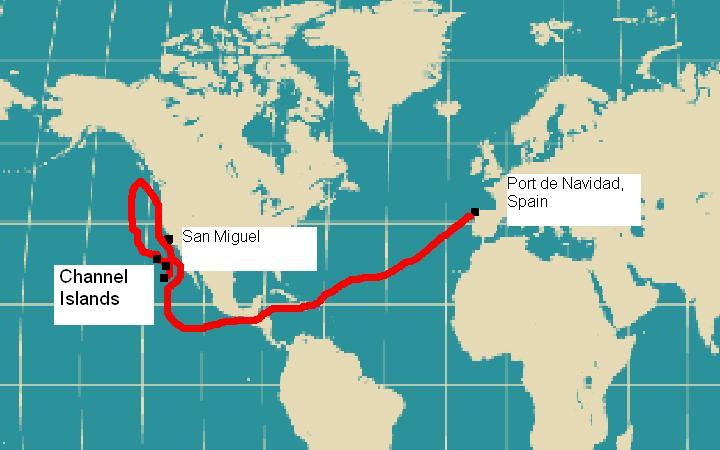 The Journey of Juan Rodriguez Cabrillo on