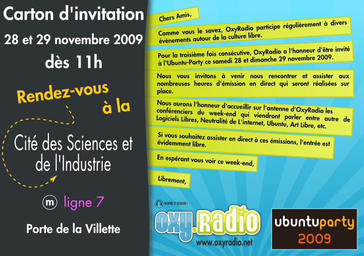 carte invitation week end