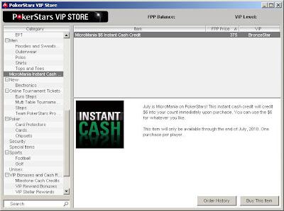 Pokerstars MicroMania Instant Cash