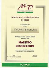 Maestro Decoratore Oikos 2008-2009