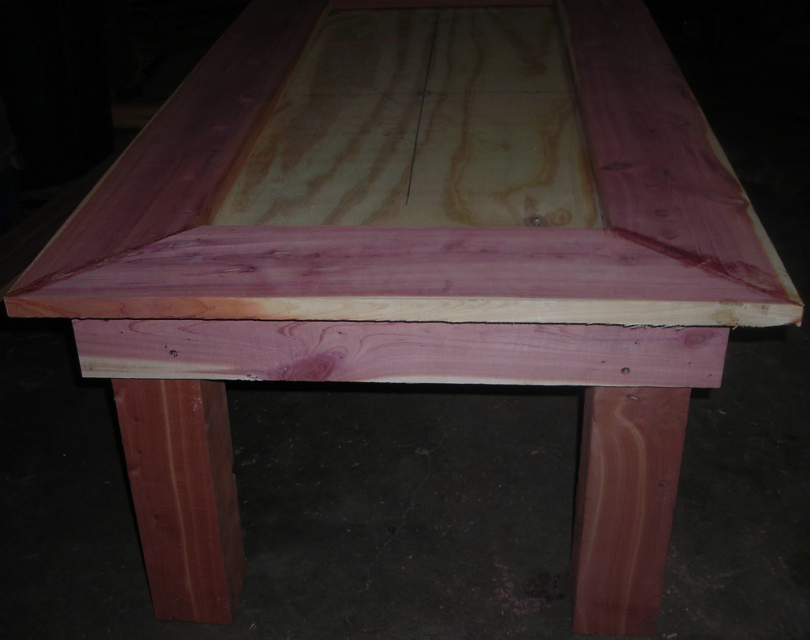 Texas custom crafted cedar coffee table under construction geotapseo Image collections
