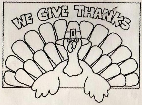 Turkey template for bulletin board