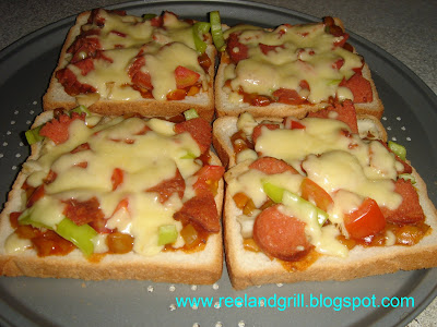 Easy Sliced Bread Pizza by Reel and Grill