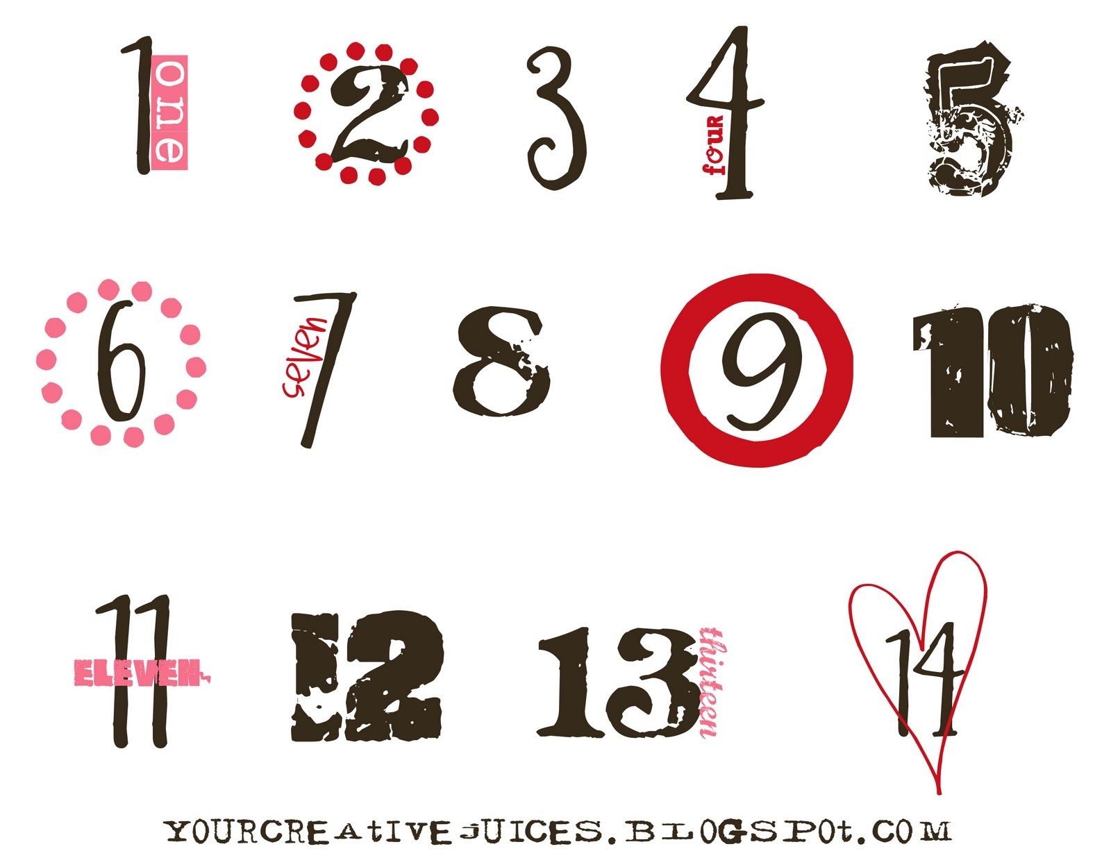 photograph about Cake Walk Numbers Printable referred to as Innovative Juices: Valentines working day countdown inside tin