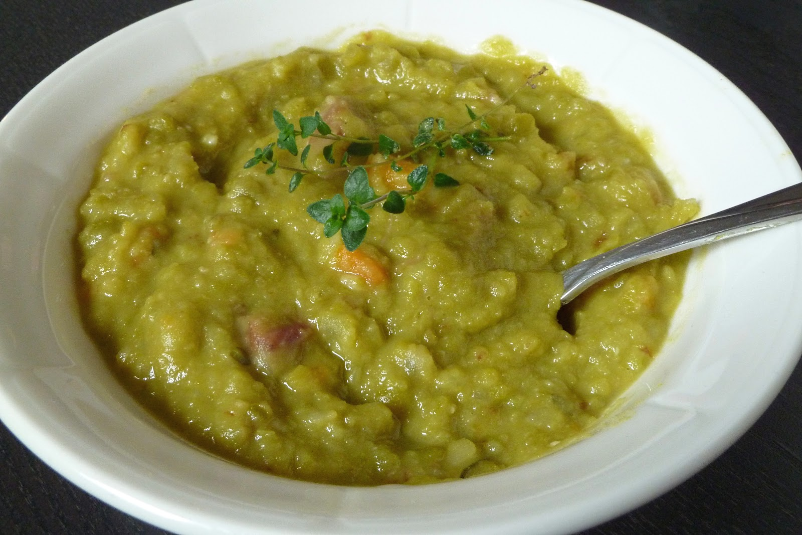 Girl with Spoon: Split Pea Soup