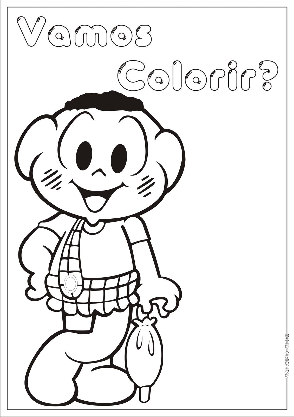 desenho turma da mônica para colorir