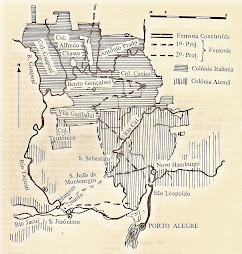 Mapa do Núcleo Colonial Italiano, 1905.