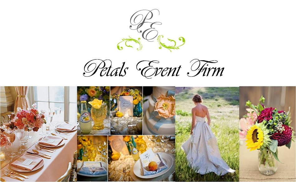 Petals Events:                     Love... Inspire... Create...