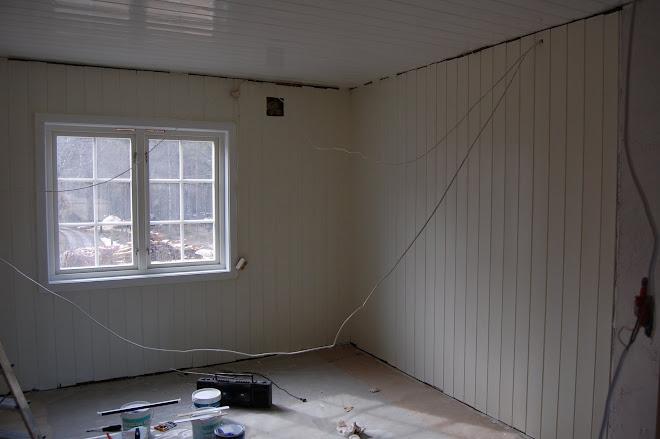 Kjøkkenet ferdig malt