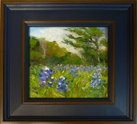 bluebonnets - framed