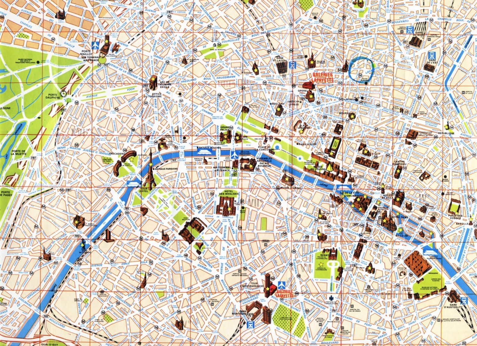 Plano Metro De Paris Pdf Mapa - Paris mapa
