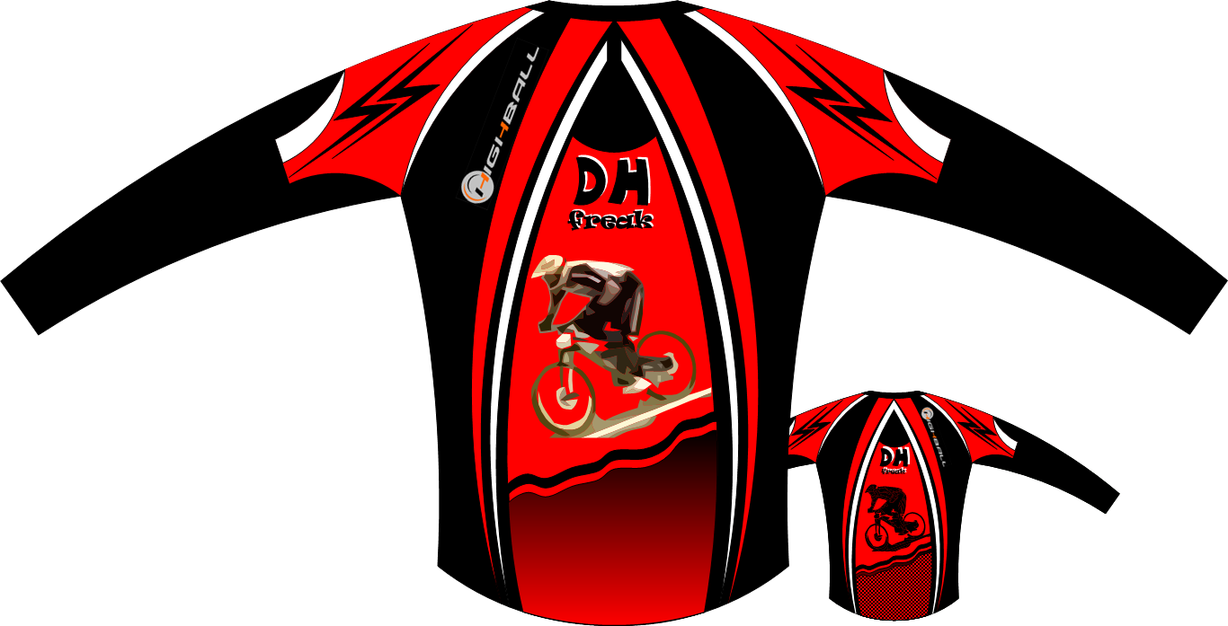 Cycling shirt design your own - Mountain Bike Vector Design