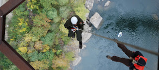 Rappelling at New River Gorge Bridge