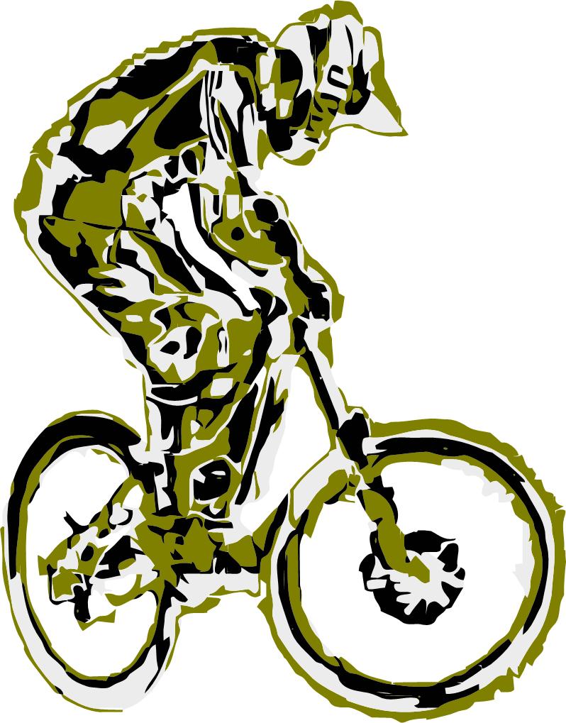 Mountain bike t shirt design vector downhill rider for T shirt design programs for pc