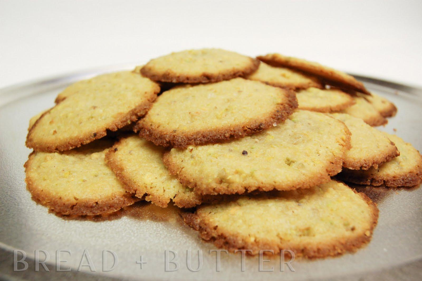 Bread + Butter: Lemon and Pistachio Cookies