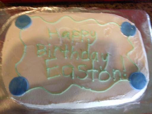 The little Baker Girl: Plain Birthday cake