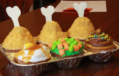 Fake TV Dinner Cupcakes