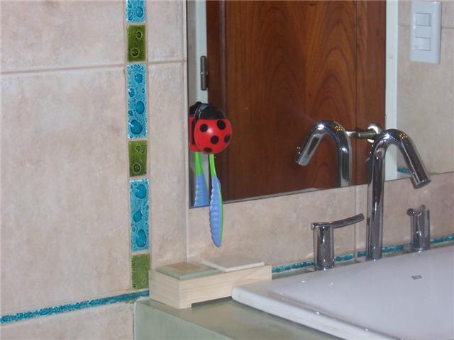 Detalle de guarda de baño