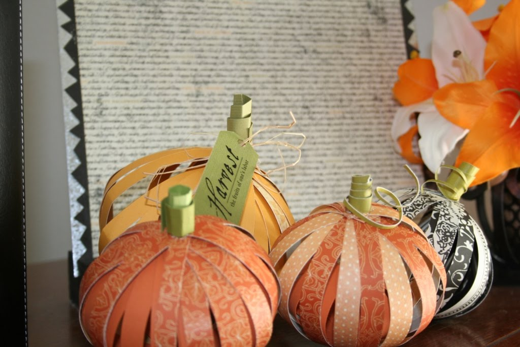 3-D Paper Pumpkin Tutorial