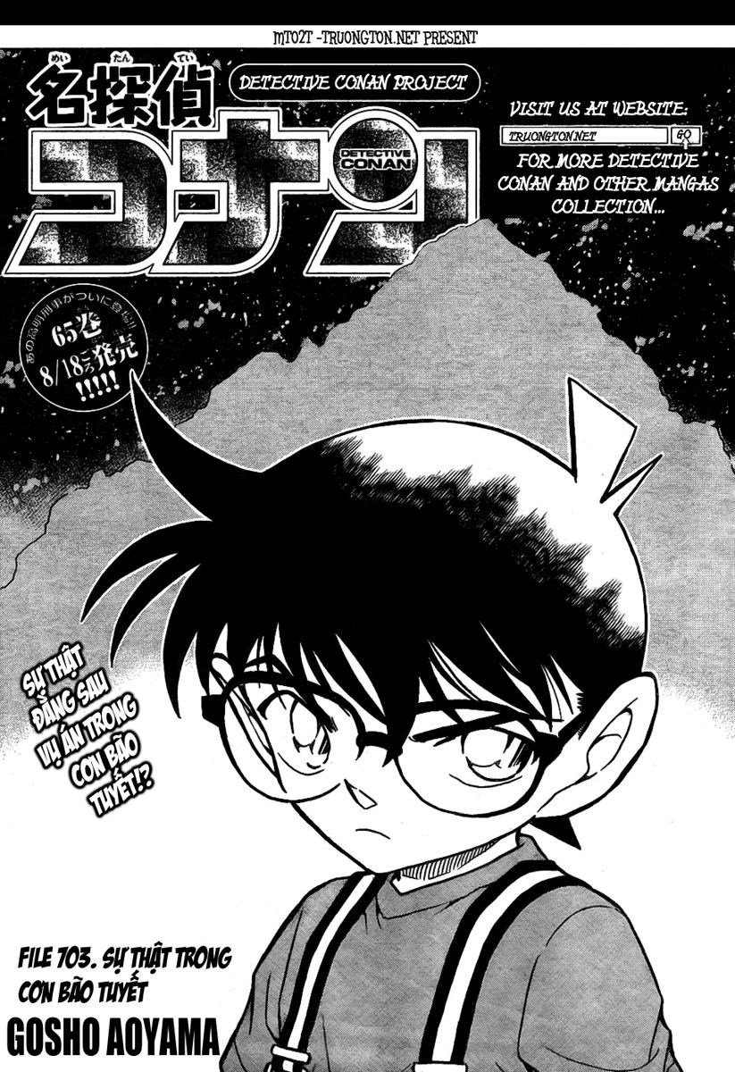 Detective Conan - Thám Tử Lừng Danh Conan chap 703 page 1 - IZTruyenTranh.com