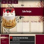Cake Recipe Blogspot Template